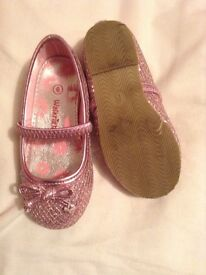 Pink sparkly party shoes