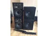 "2x 18"" Subwoofer 1000w Skytec and 2x 15"" Passive Skytec Speakers 1000w"