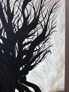"Original Oil Painting Artwork Oak by Des Rosiers 30 x 30"" Peterborough Peterborough Area image 7"