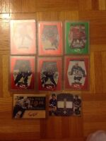 Grand nombre de cartes de hockey