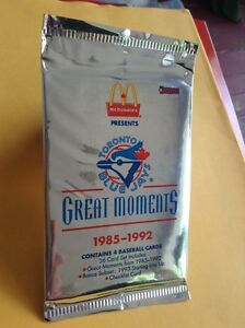 MCDONALDS TORONTO BLUE JAY GREAT MOMENTS 1985-1992
