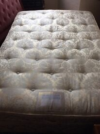 Vi Spring Double Bed and matching base £200 headboard also