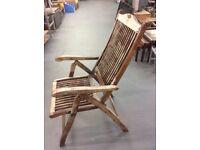 Hardwood PAGODA reclining Garden Chairs