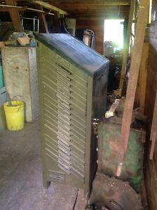 Ludlow Printer's Type Cabinet
