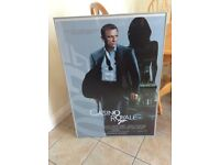 Large Poster Frame with James Bond & Gladiator Posters