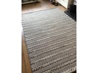 RUG LARGE HAND WOVEN INDIAN WOOL SUPERIOR QUALITY