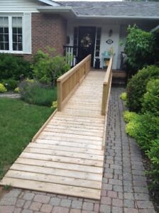 wooden wheelchair accessible ramp