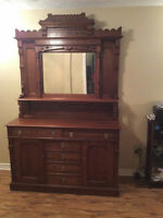 Antique Walnut Sideboard- well over 100 years old