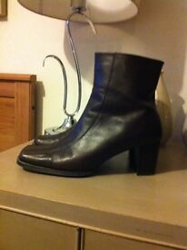 M&S Brown Leather boots size 7.5 fit 8