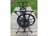 Vintage antique sewing singer sewing machine cast iron table