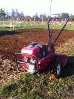 Roto tilling  gardens an lawns an flowers beds
