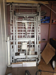 All metal remote control hospital bed