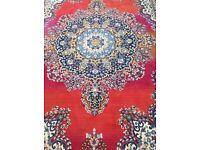Vintage colourful oriental carpet