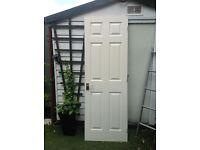 White internal doors with door furniture X 1