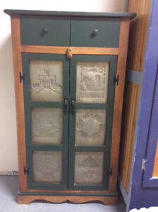 Punched Tin Cabinet