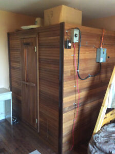 Cedar Sauna 6Ft. X 6Ft.  with Electric Heater Dry or Wet