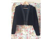 Vintage black velvet evening jacket size 10.