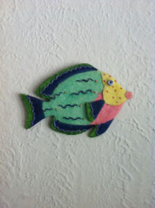 Handpainted Fish Wall sculptures(3)/Peint à la main poissons(3)