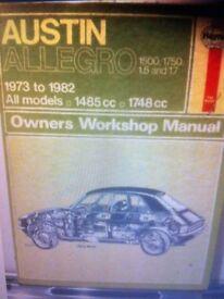 Haynes Manual, Austin Alegro 73-82