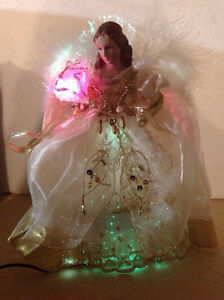 12 inch Fiber Optic Angel Christmas tree topper