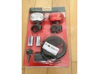Front & Rear Cycle Led Lights & 1 metre Bicycle Cable Lock Set