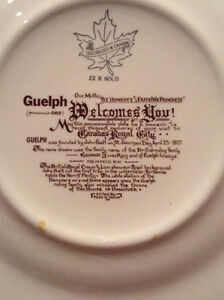 City of Guelph commemorative plate -- 22K Gold plated--new Price Kitchener / Waterloo Kitchener Area image 2