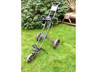 Powakaddy twinline1 push-pull 3 wheel golf trolly