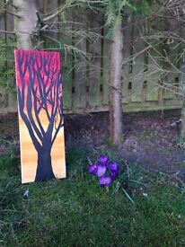 Sunset Tree Hand painted canvas