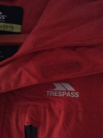Red genuine Trespass jacket small mans