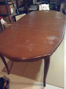 Dining Table with 4 chairs + Buffet/Credenza