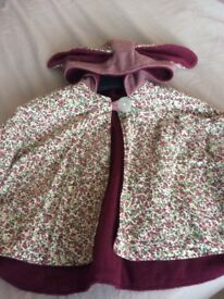 Babies Cape with Bunny Ears, up to 12 Months (New)