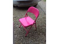Pink foldable chair