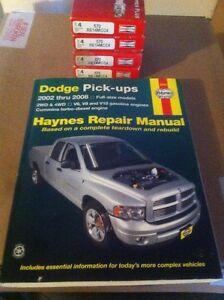 """Dodge Hemi """"New"""" 16 spark plugs + 2002-2008 Truck Haynes Manuel"""