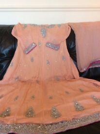 My boutique beautiful peach chiffon Asian wedding dress 👗