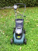 Cordless lawnmower Yardworks / Tondeuse /24v, 10Ah