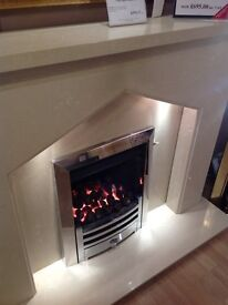 Fireplace in a beautiful Coral Cream finish