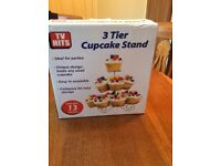 3 Tier Cupcake Stand (New In Box)