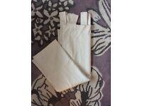 """Cream 100% Cotton Laura Ashley Curtains 85"""" Tab Top"""