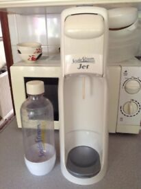 Soda stream jet comes with bottle and empty gas cylinder