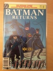 DC Comic BATMAN RETURNS OFFICIAL COMIC , 1ST PRINT, 1992
