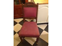 Beautiful chair with brass castors