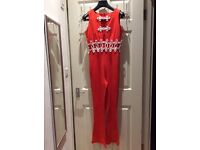 Orange Jumpsuit by FUNKY small
