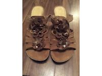 Marco Tozzi Suede Sandals Size EURO 39