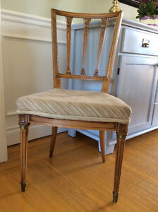 Four French provincial dining room chairs