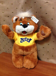 """BEAR ZEDDY COLLECTABLE 15"""" STUFFED FROM CLOSED ZELLERS STORE"""