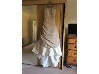 Ian Stuart Florence wedding dress in antique pink, size 12