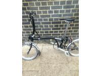 Brompton fold up bike double gears
