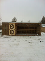 Horse sheds and cabins