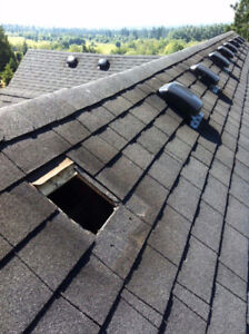 Roof Repairs ,Free estimate,missing shingles,leaking roof