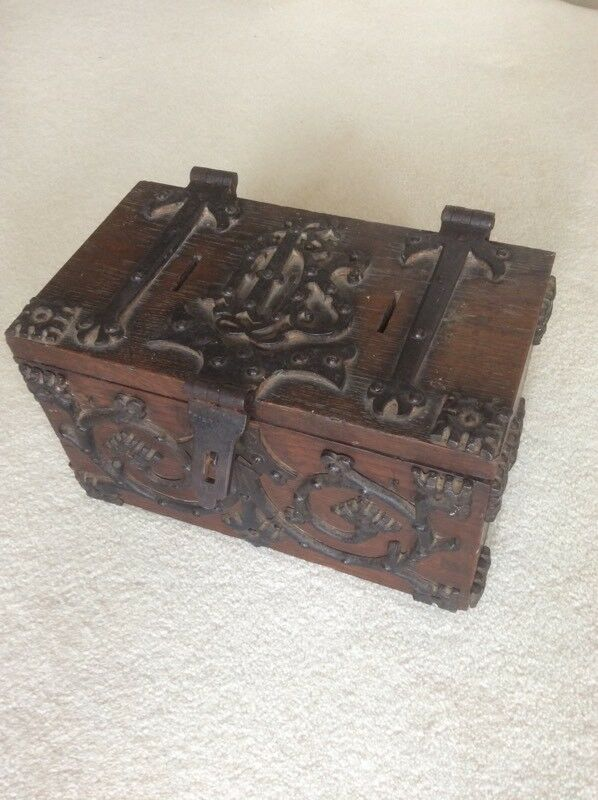 Antique church collection box, rare.